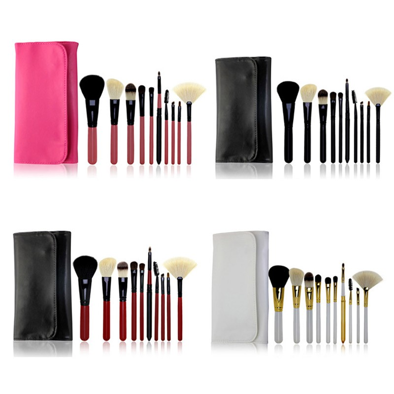 10pc Makeup Brushes Set With Bags Cosmetic Maquiagem Paleta De Sombra Powder Eyebrow Foundation Eyeshadow Matte Lipstick Beauty women newthe balm california and colour that 9 colour cosmetics makeup eyeshadow palette paleta de sombra eye shadow