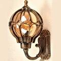 Лофт винтажные наружные водонепроницаемые алюминиевые стеклянные абажуры Настенные светильники Ретро Европейская вилла садовый проход к...
