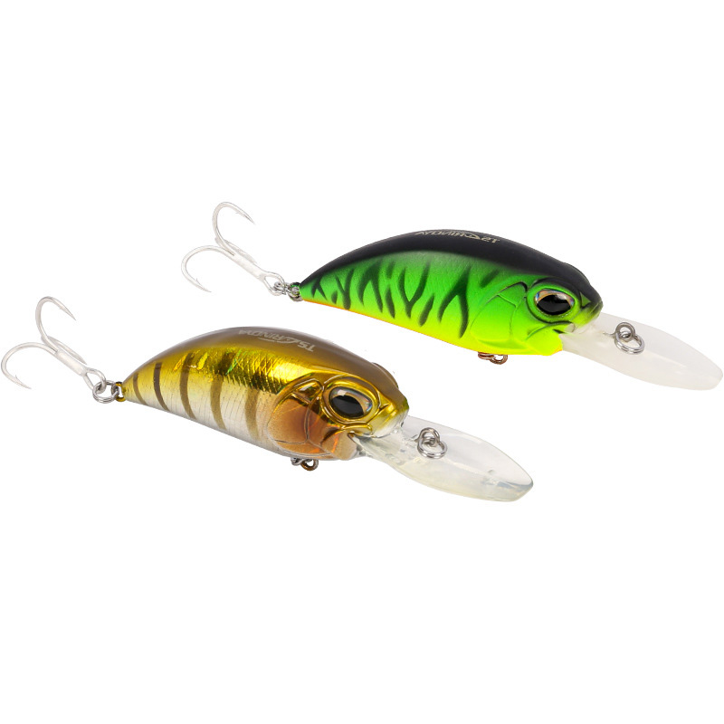 Realistic DW32 Small Fat 60mm 16g Deep 2.5 Meters - 3.2 Meters Road Sub-bait Crank Lure Triple Strengthen Blood Groove Hooks