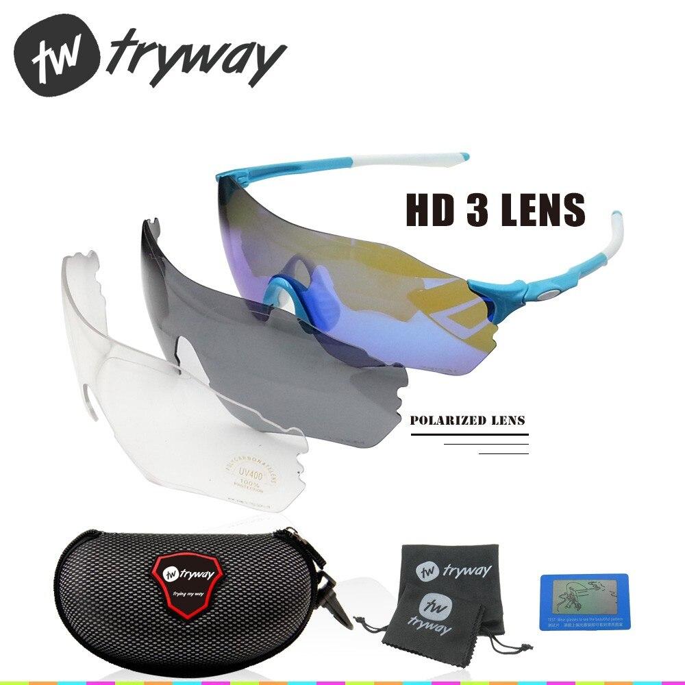 Prix pour NOUVELLES lunettes de soleil Polarisées revêtement 3 lentille EV lunettes moto oculos de sol UV400 Zéro eyeshield Route VTT vélo ciclismo lunettes