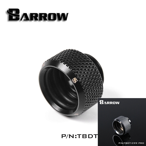 Barrow Black Silver OD14mm Hard tube fitting G1/4'' OD14mm hard pipe TBDT-C99 PRO barrow white black silver od12mm hard tube fitting hand compression fitting g1 4 od12mm hard pipe tykn k12 v4