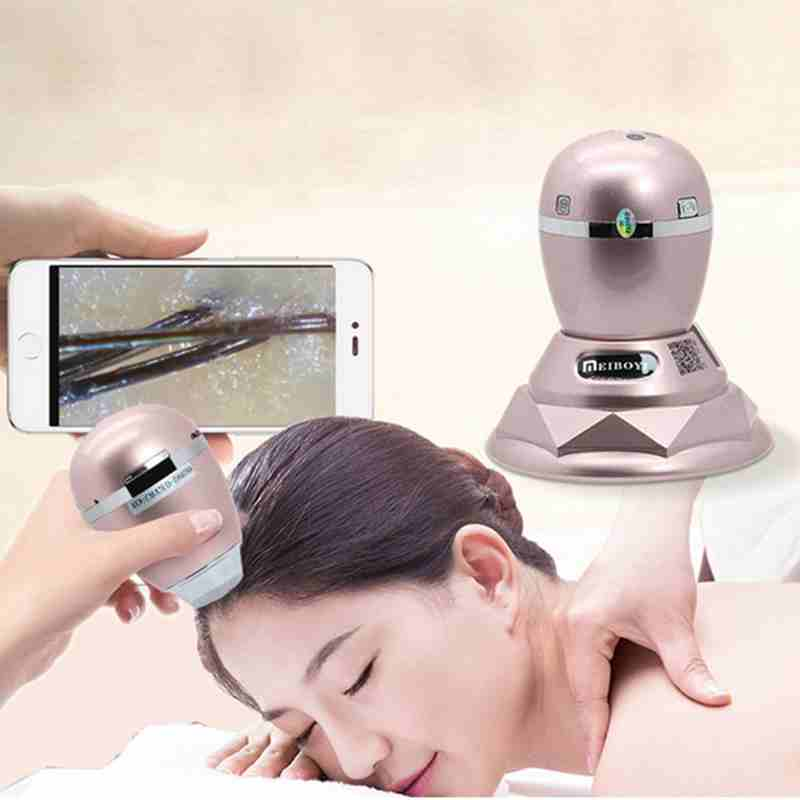800x 3MP Wireless WIFI Skin Scalp Detector Digital Microscope with 6LED for Hair Follicle Tester Beauty Salon Care Facial Test