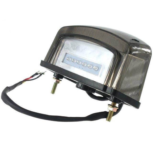 Motorcycle Tail Light 12V 10.5W LED Brake Light License Plate Lamp Taillight with Bracket for Motorbike ATV SUVs Electrombile