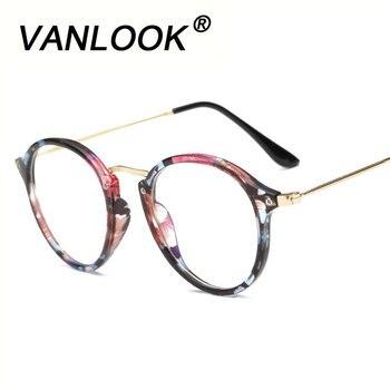 Anti Blue Ray Mulheres Óculos de Computador Para Homens Transparente Óculos Redondos Moda Espetáculo Quadro Revestimento Oculos de grau Feminino
