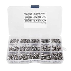 480PCS Screw and Nut Kit Assor