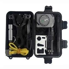 EDC Outdoor Survival Waterproof Equipment 10 in 1 survival kit Set tourism Multifunction First aid SOS Emergency self
