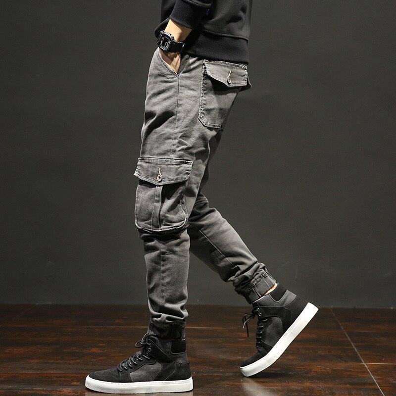 Mens Big Pocket Straight   Jeans   Harem Pants Male Classic Causal Loose Vintage   Jeans   Mens Hip Pop Lightweight   Jeans   AA11426
