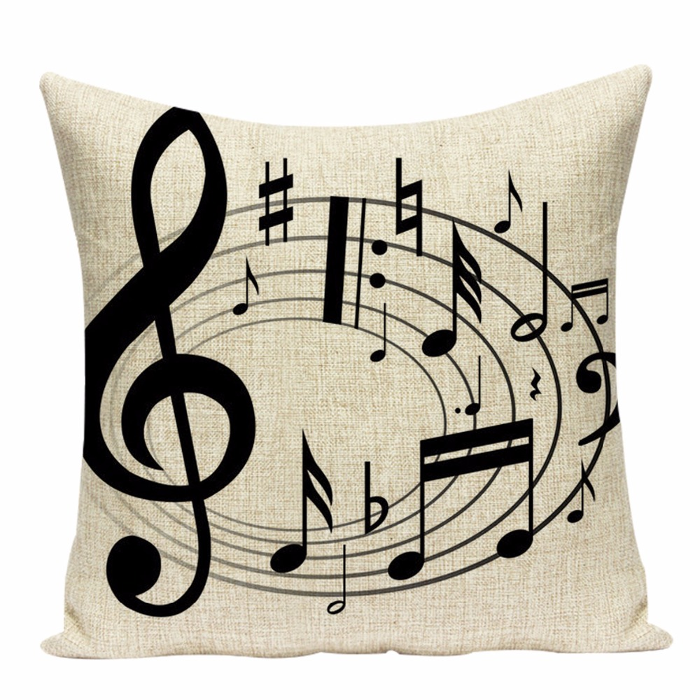 Musical Instruments Notes cushion cover Best Children's Lighting & Home Decor Online Store