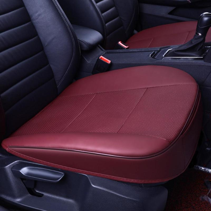 Universal Breathable Car Seat Cover Pad Mat PU Leather Auto Car Chair Cushion US