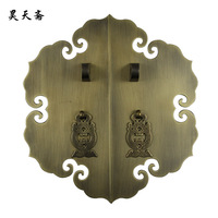[Haotian vegetarian] bronze Chinese Ming and Qing antique furniture copper fittings brass lock piece door handle copper live wis