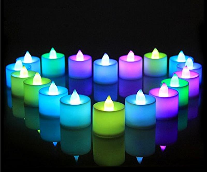 Set Of 12 Color Changing LED Candles Flameless Tea Light For Decoration Festivals Weddings With Batteries Multicolor Party Decor