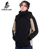 ceae5688b Acampamento pioneiro novo inverno para baixo homens jaqueta de marca  vestuário moda patchwork parkas com capuz quente AYR801404. Pioneer Camp  New Winter ...