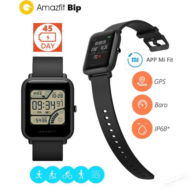xiaomi huami amazfit bip bit pace lite youth smart watch mi fit reflection color screen 1 28