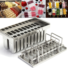 20pcs Stainless Steel Popsicle Molds Ice Cream Stick Holder Silver Home DIY Ice Cream Moulds Ice Pop Mould Ice Lolly Popsicle