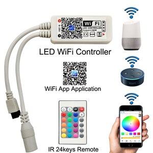 Image 4 - 5050 RGBW/WW LED Strip Licht WIFI Controller Neon Lamp 20 M Strepen Decor Flexibele Tape tira fita Diode lint DC 12 V Adapter Set