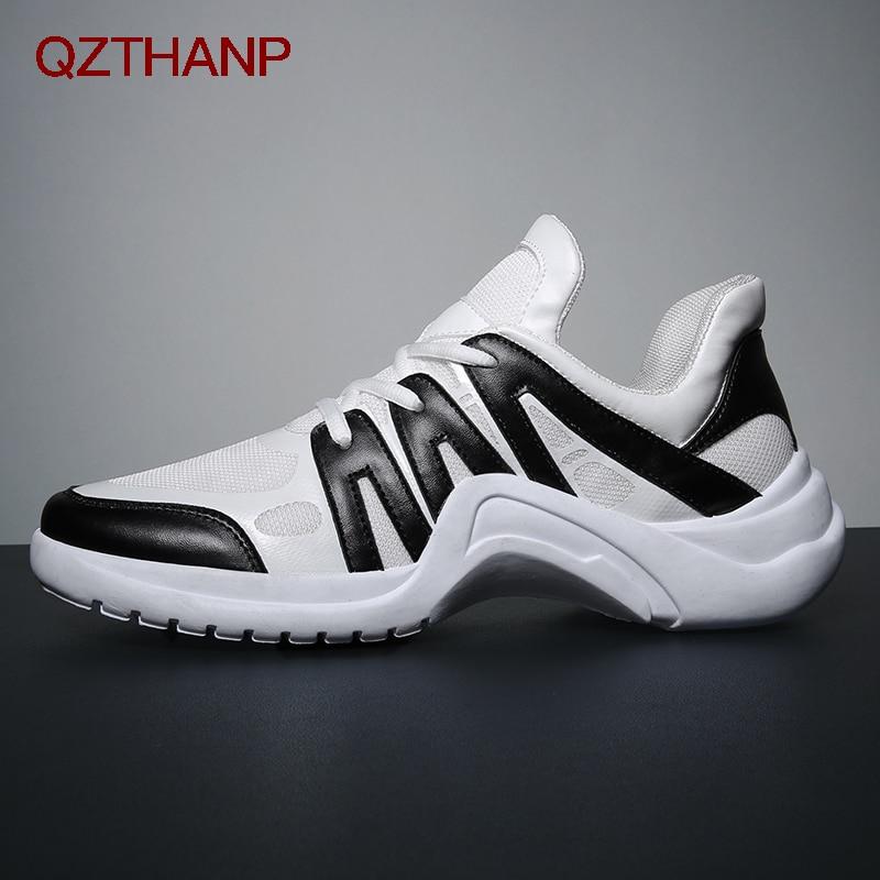 Adultos Negro Encaje Masculinos Zapatos Hombre Moda azul Malla blanco Ligero Zapatillas De multiple Pisos Hombres Para Transpirable Tenis Casual Alta Calidad wOq7T7z4
