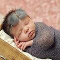 Новый Корейский Ребенок Мода Новый Перо Мех Hairbands Дети Девушки Элегантный Горный Хрусталь Аксессуары Для Волос ZHH329
