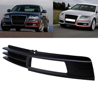 Left Side Car Front Bumper Lower Grille Grill Fog Light Cover For Audi A6 C6 2009