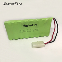 Masterfire novo aa ni mh 9.6 v 1800 mah ni mh bateria baterias recarregáveis com dois fios plugues|ni mh battery|mh battery|battery pack -