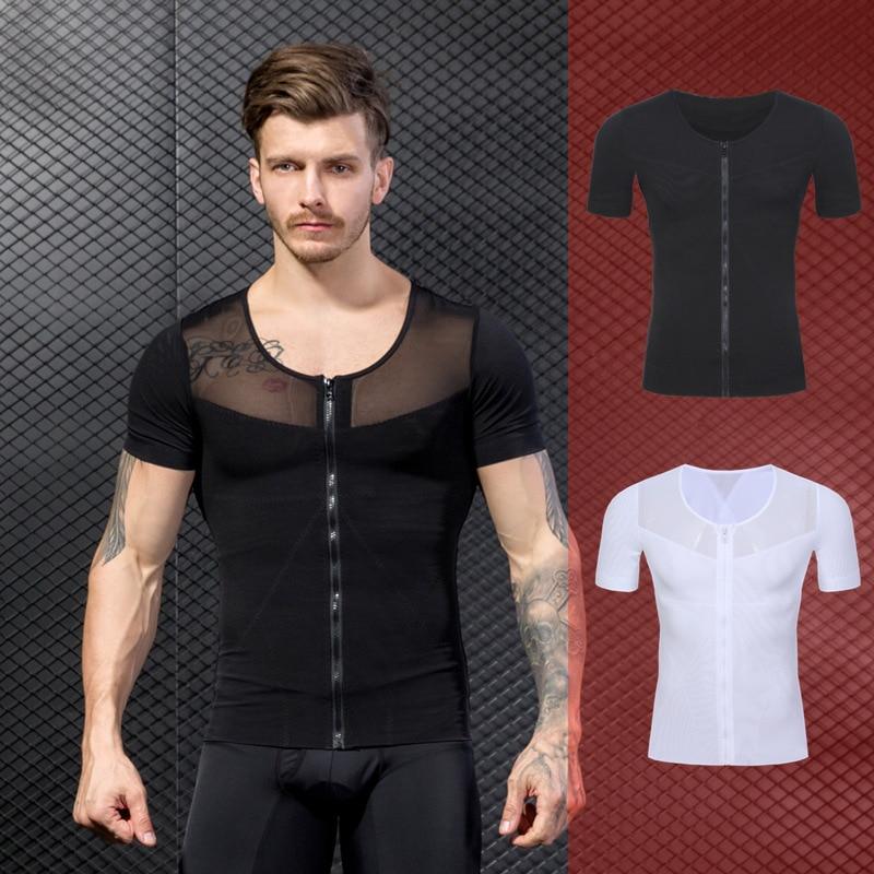 Men Body Belt Tummy Shapewear Body Shaper Underwear TShirt Top Posture Corrector