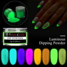 лучшая цена 8g Ultrafine Phosphor Powder Nail Glitter Powder 8 Colors Dust Luminous Pigment Fluorescent Powder Nail Glitter Glow in the Dark