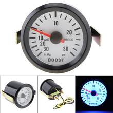 "6032BL 2"" 52mm 12V Blue LED 0~30in.Hg / 0~30PSI Turbo Boost Gauge Meter with Sensor for Car / Boat / Truck / ATV(China)"