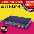 Hongmark classe industrial 1 8 gigabit de fibra óptica medidor de potência óptica fonte de alimentação POE switches 20 menos 6 mil volts