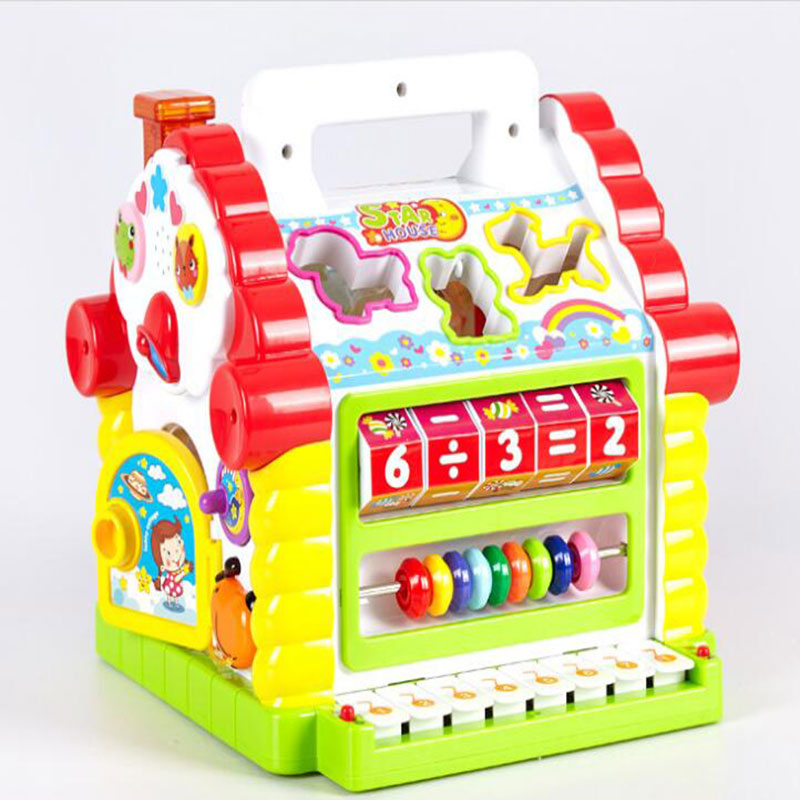 Multifunctional Musical Toys Colorful Baby Fun With Musical Electronic Geometric Blocks Sorting Learning Educational Toys