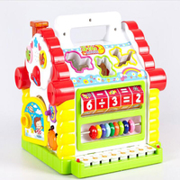 New Multifunctional Musical Toys Colorful Baby Fun House Musical Electronic Geometric Blocks Sorting Learning Educational Toys