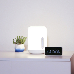Image 4 - Xiaomi Mijia Bedside Lamp 2 Xiaoai Clock Smart LED Bedroom Night Colorful Desk Light Voice Control Switch for Homekit Mihome APP