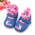 Cotton-made baby girl shoes belt ankle sock 100% cotton cloth breathable baby shoes pre-walkersbed shoes