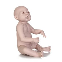 NPK reborn doll kit wholesale unpainted blank doll kit soft vinyl reborn full vinyl body Dakota(China)
