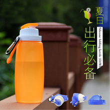 320ML Foldable Silicone Water Bottle Kettle White,Pink,Blue For Travel Outdoor Sport Camping Hiking Walking Running