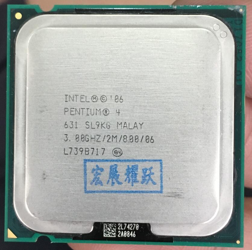 Galleria fotografica <font><b>Intel</b></font> Pentium 4 631 P4 631 3.0 SL9KG DO Dual-Core CPU LGA 775 100% working properly Desktop Processor