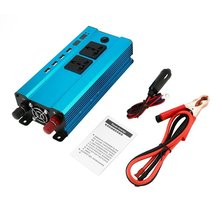 Professional 4000W Power Inverter DC to AC Home Fan Cooling Car Converter for Household Appliances 4 USB Power Ports