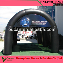 10X4X5Mwhite and sliver oxford cloth inflatable stage tent , inflatable party tents for events+free shipping