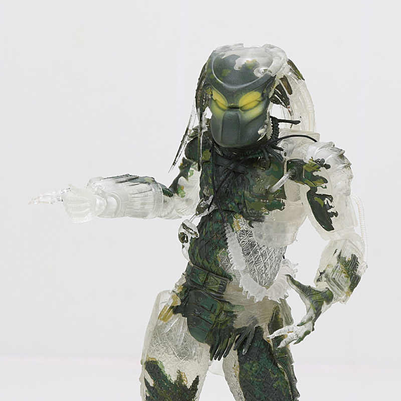 "7.8 ""Neca Predator Utama 30th Anniversary Hutan Pemburu PVC Action Figure Hutan Pemburu Unmasked Collectible Model Boneka Mainan"