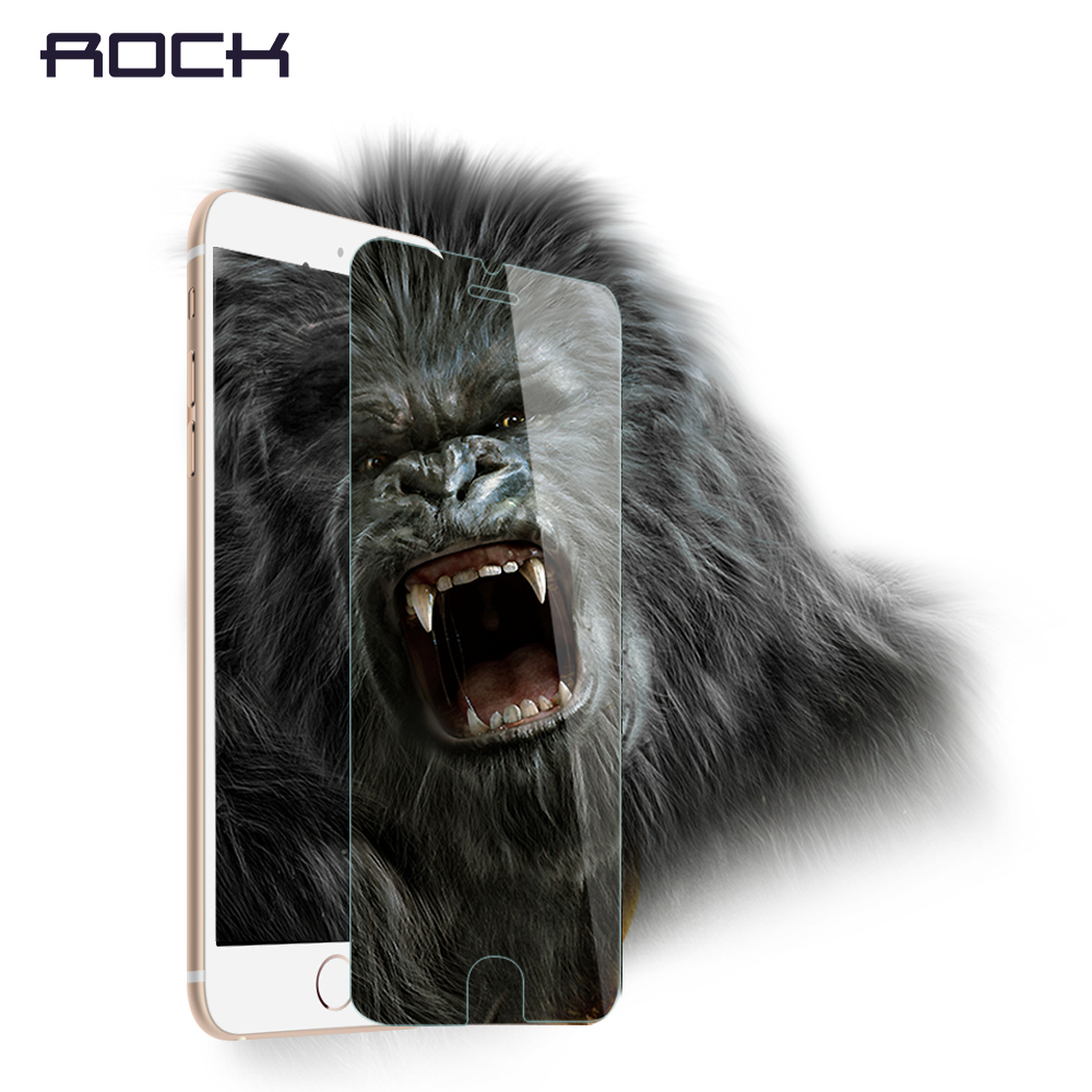2pcs/lot ROCK Gorilla Tempered Glass Screen protector for iPhone 6 6s 6 plus 6s plus Protective film for iPhone 6s plus