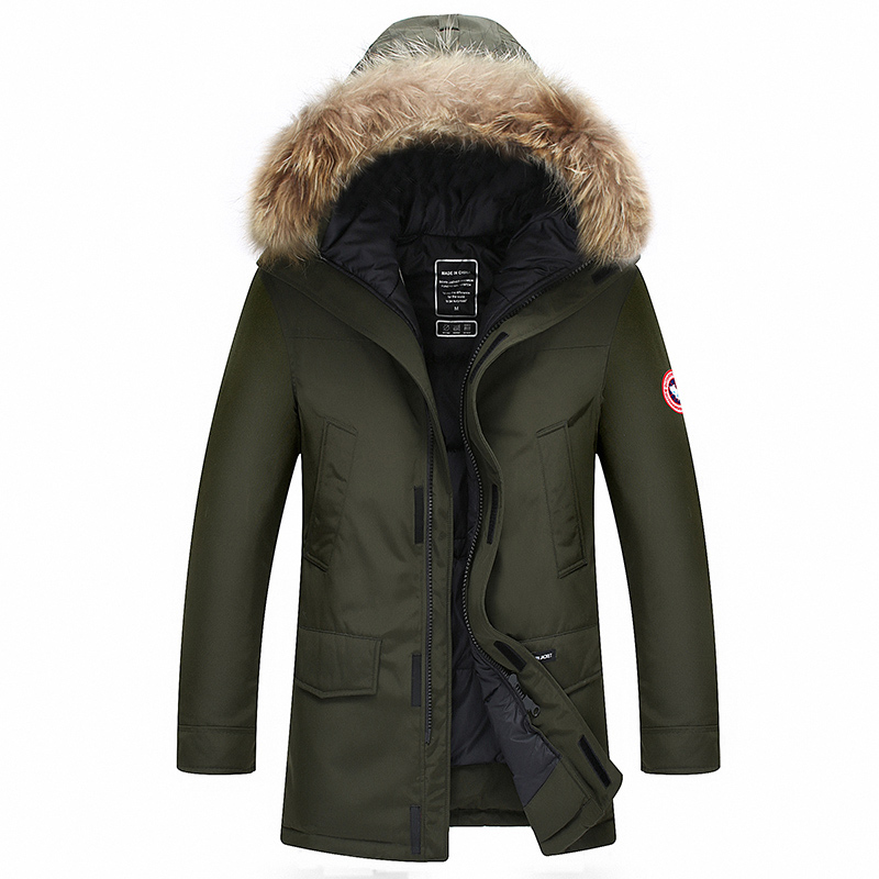 90% Down Jackets Men Winter Jacket Men Fashion Thick Warm Parkas Fur White Duck Down Coats Casual Man Waterproof Down Jackets(China)