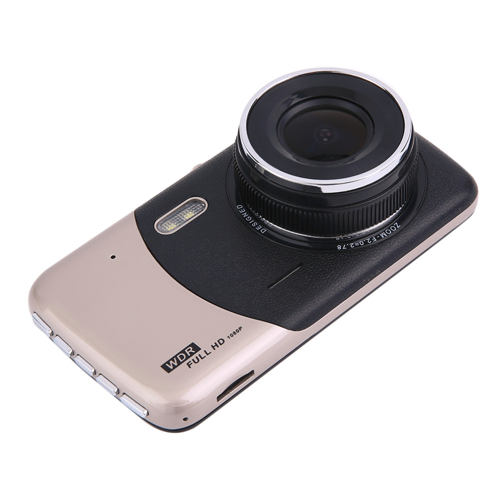 professional double lens 4 0 inch 1080p car camera high definition night vision car dvr driving. Black Bedroom Furniture Sets. Home Design Ideas