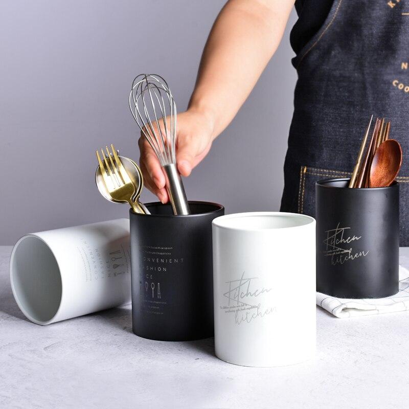 Multifunction Stainless Steel Storage Box Chopsticks Tube Spoon Fork Cutlery Drain Holder Kitchen Utensils Organizer Tools
