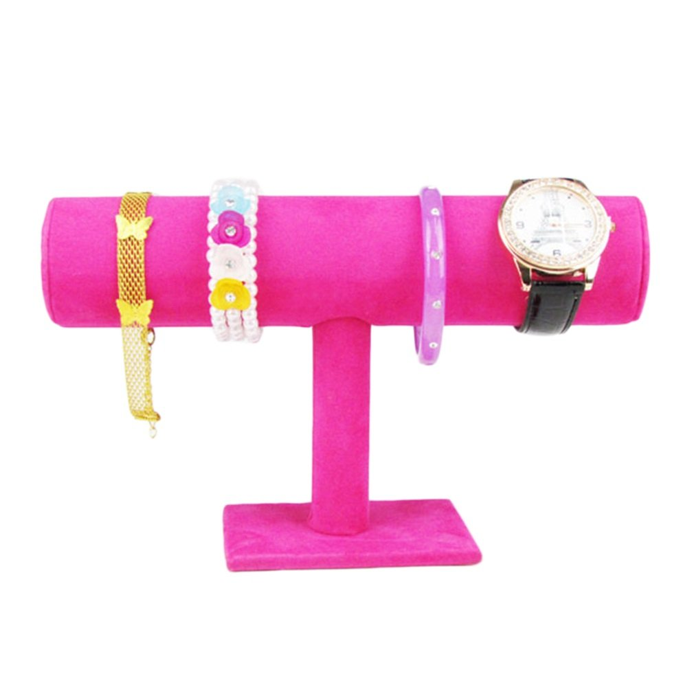 Velvet Watch Jewelry Display Holder Rose Red Perfect For Watch Display And Ornament Jewelry Rack Bracelet Watch Stand Diplay