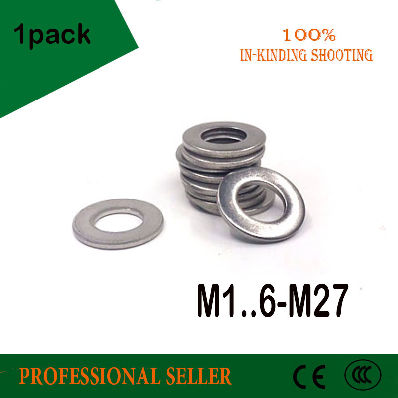 M1.6 M2 M3 M4 M5 M6 M8 M10-M27 304 Rondelles En Acier Inoxydable Métrique Plat Joint Kit Pour Le Matériel Accessoires