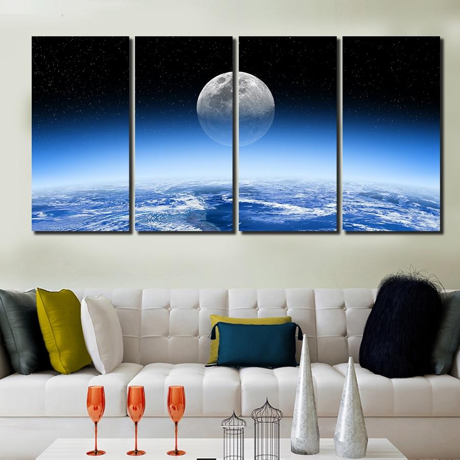 Aliexpress Com Buy 4 Panels Modern Printed Coffee Canvas: Aliexpress.com : Buy 2016 Hot 4 Panel Modern Printed HD
