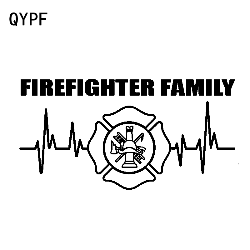 Qypf 16.2cm*16.2cm Exquisite Statement My Father My Hero Is Fireman Image Simple Car Sticker Distinctive Vinyl Decal C18-0925 Attractive Designs; Car Stickers