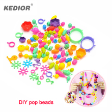 DIY Plastic Pop Beads Girls Handmade Educational Toys Assembled Blocks Candy Sugar Jewelry Puzzle Toys for