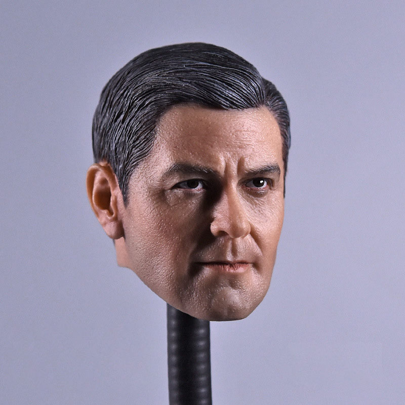 1/6 Scale Smiing George Clooney Argo Head Carving Sculpt Male Version Model Short Hair Headplay  for 12 Action Figure Body1/6 Scale Smiing George Clooney Argo Head Carving Sculpt Male Version Model Short Hair Headplay  for 12 Action Figure Body