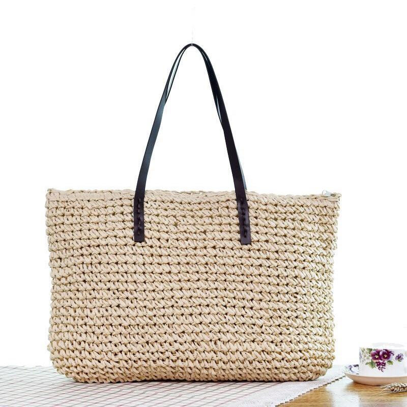 Women Fashion Design Lace bag Tote crossbody Handbag Wicker Rattan Shopping Straw Shoulder Bags summer lady handmade beach bags