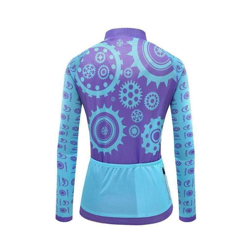 Long Sleeve Women Breathable Cycling Jersey Set MTB Bike