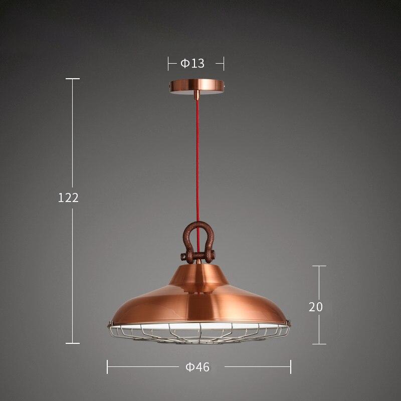 Фумат чердак краткое подвесные светильники Медь закончил тела металлический оттенок лампы для Обеденная Кухня Ретро Industral подвесные свети...